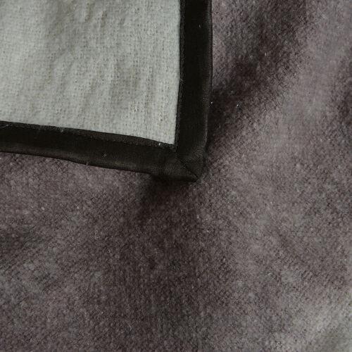 100% Cotton Flannel Chocolate and White Colour Tie & Dye Design Plaid (Size 150x130 Cm)