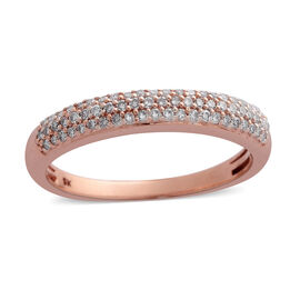 Limited Edition 0.33 Ct Natural Pink Diamond Ring in 9K Rose Gold