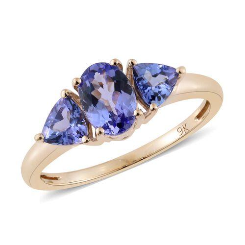 9K Y Gold AA Tanzanite (Ovl) Ring 1.500 Ct.