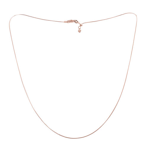 Close Out Deal Rose Gold Overlay Sterling Silver Chain (Size 24), Silver wt 3.60 Gms.