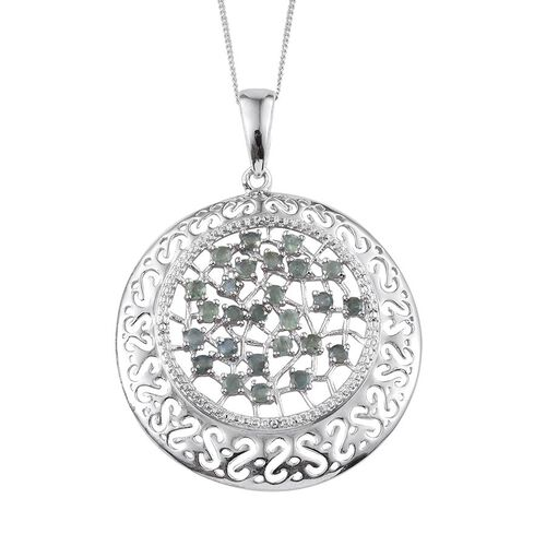 Narsipatnam Alexandrite (Rnd) Pendant With Chain (Size 18) in Platinum Overlay Sterling Silver 1.750 Ct.