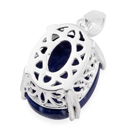 Blue Howlite (Ovl) Pendant in Sterling Silver 12.500 Ct.