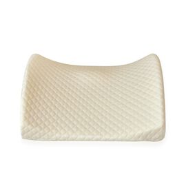 High Density Memory Foam Lumbar Cushion with Removable Cover and Adjustable Strap (Size 35X33X10 Cm)