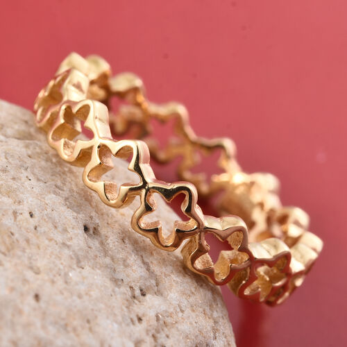 Star Stacking Silver Ring in Gold Overlay