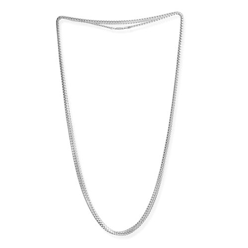 TJC Launch- JCK Vegas Collection Sterling Silver Diamond Cut Popcorn Chain Necklace (Size 100), Silver wt 15.00 Gms.
