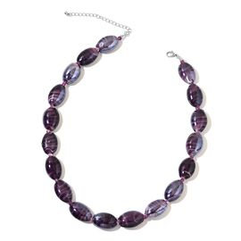 Limited Edition- Murano Glass and Purple Colour Beads Necklace (Size 19 with 3 inch Extender)