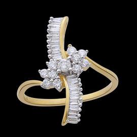 ILIANA 18K Y Gold IGI Certified Diamond (Rnd) (SI/G-H) Ring 0.500 Ct.