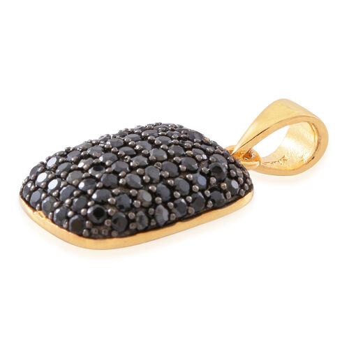 Boi Ploi Black Spinel (Rnd) Pendant in 14K Gold Overlay Sterling Silver 2.500 Ct..No OF Stones 86
