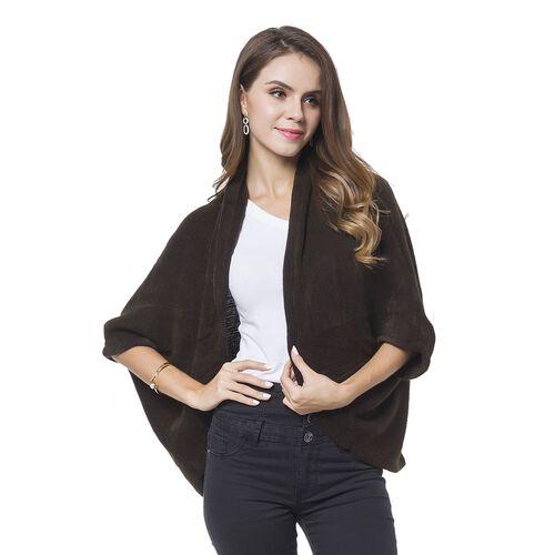 Designer Inspired-Chocolate Colour Cardigan (Size 105X35 Cm)
