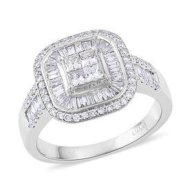 ILIANA 18K White Gold 1.02 Ct Diamond (Princess Cut) Ring IGI Certified (SI/G-H)