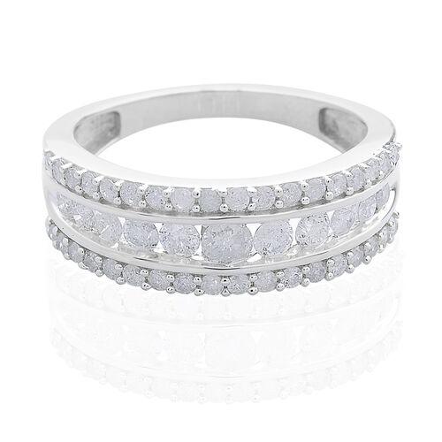 9K W Gold SGL Certified Diamond (Rnd) (I3/G-H) Ring 1.000 Ct.