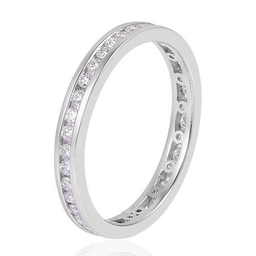 RHAPSODY 950 Platinum 0.50 Carat Diamond Channel Set Full Eternity Band Ring IGI Certified VS E-F.