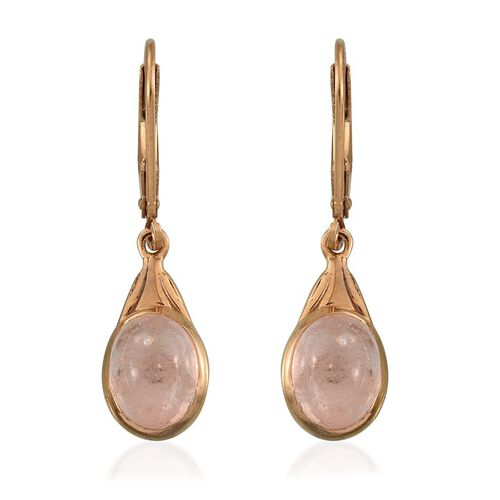 Marropino Morganite (Ovl) Lever Back Earrings in 14K Gold Overlay Sterling Silver 3.750 Ct.
