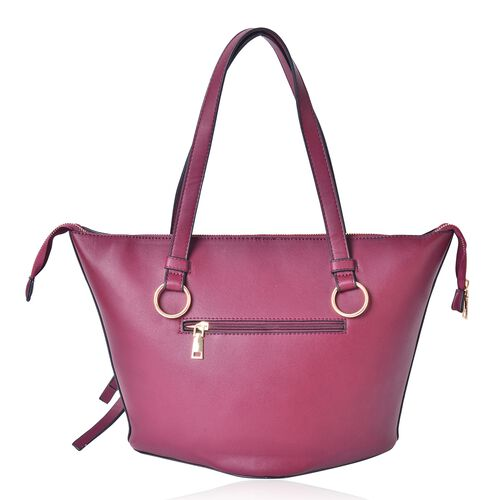 Spring Collection Colour Block City Bag with External Zipper Pocket (Size 44x30x27x20 Cm)