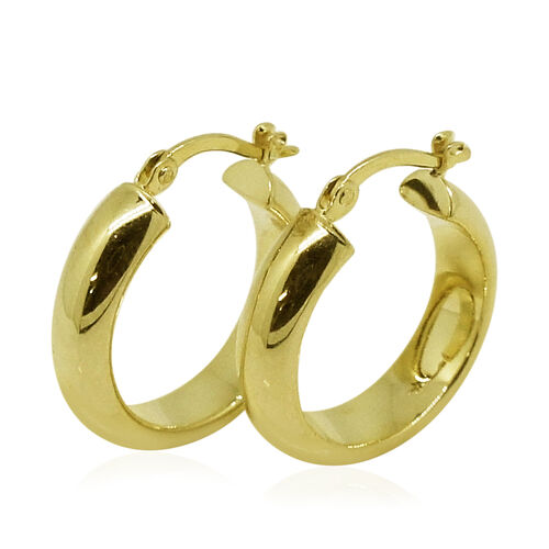 Surabaya Gold Collection - 9K Yellow Gold Circular Hoop Earrings (with Clasp)
