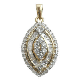 Signature Collection 18K Yellow Gold IGI Certified Diamond (GH SI to I1) Pendant 0.500 Ct.