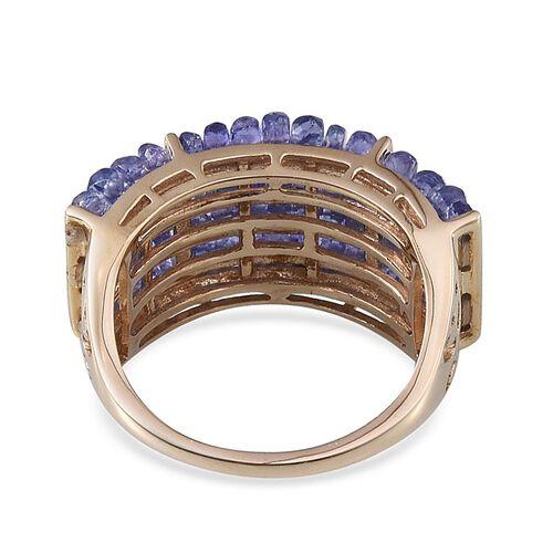 9K Y Gold Tanzanite (Rnd) Ring 15.000 Ct.