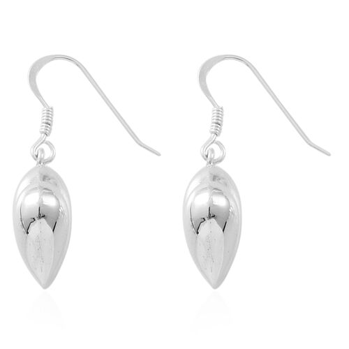 Vicenza Collection - Sterling Silver Heart Hook Earrings, Silver wt. 4.37 Gms.