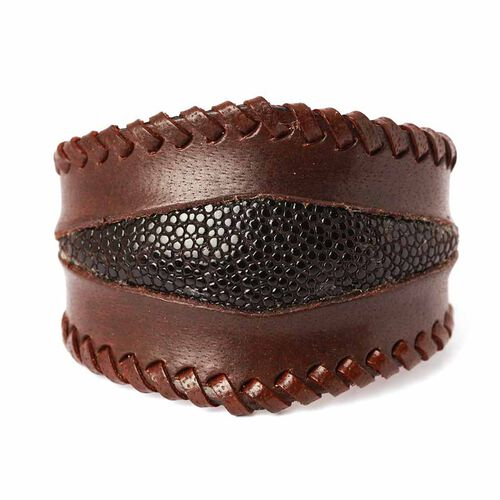Chocolate Leather Cuff