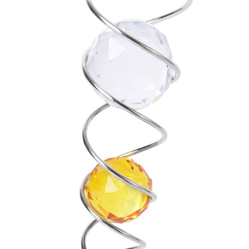 Home Decor - Hanging Spinner Bait with Yellow and White Balls Inside (Size 25.5 Cm)