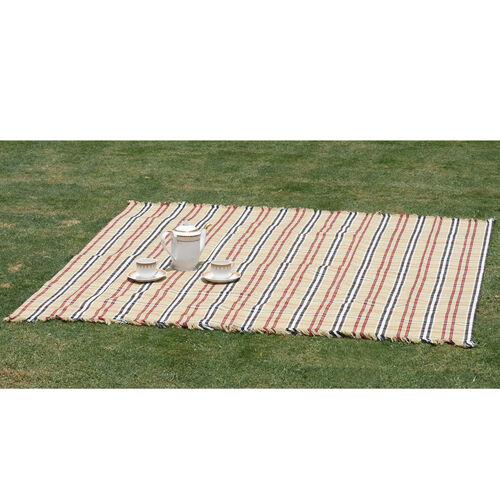 100% Cotton Bedspread/Sofa Protector Chocolate, Black and Multi Colour Tartan Check (Size 240x150 Cm)
