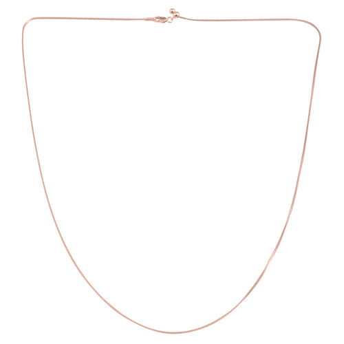JCK Vegas Collection Rose Gold Overlay Sterling Silver Adjustable Diamond Cut Franco Chain (Size 24), Silver wt 3.30 Gms.