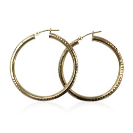Italian Made 9K Y Gold Hoop Earrings (with Clasp Lock) Gold Wt 2.70 Gms