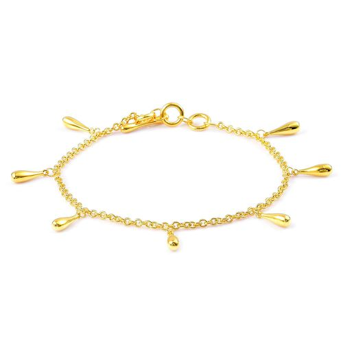 LucyQ Multi Drip Bracelet (Size 8) in Yellow Gold Overlay Sterling Silver 7.30 Gms.