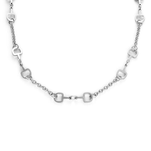 Designer Inspired Snaffle Necklace (Size 20) in Stainless Steel