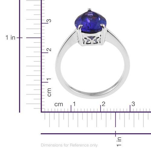 ILIANA 4.40 Ct AAA Tanzanite Solitaire Ring in 18K White Gold
