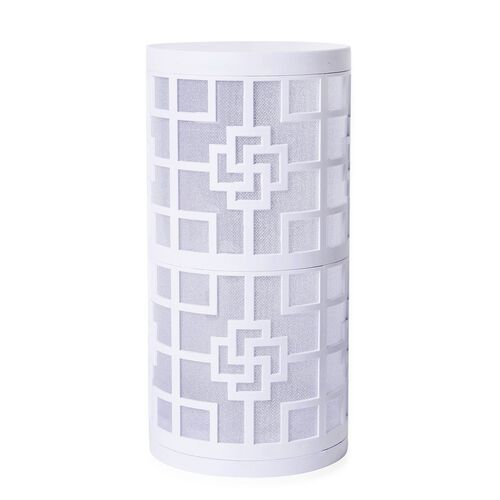 Home Decor - Chinese Knot Pattern White Colour LED Lamp (Size 23X11 Cm)