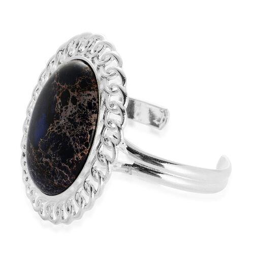 Purple Jasper Bangle in Silver Tone (Size 7.5) 40.000 Ct.