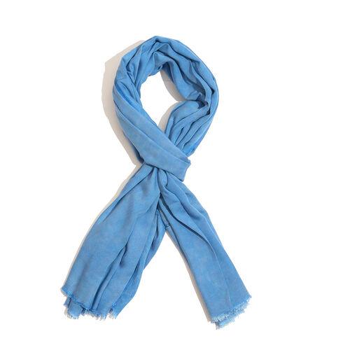 Blue Colour Scarf (Size 200x120 Cm)