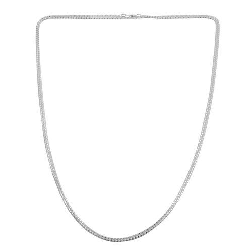 JCK Vegas Collection Sterling Silver Popcorn Necklace (Size 60), Silver wt 9.50 Gms.