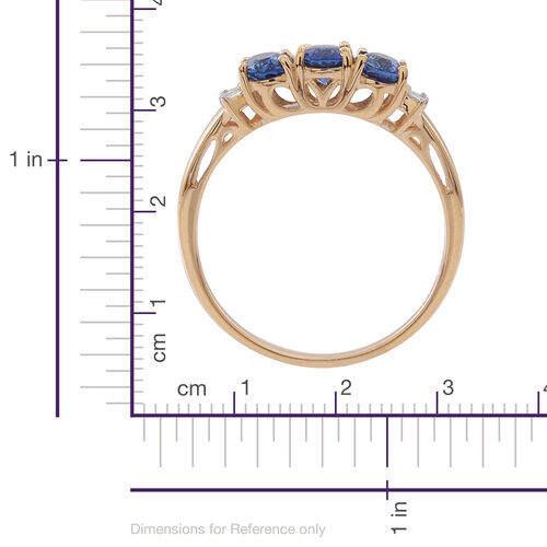 ILIANA 18K Y Gold Rare Ceylon Sapphire (Ovl), Diamond Ring 1.500 Ct.