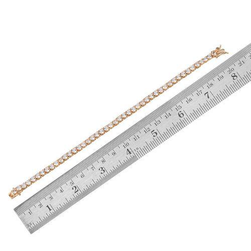 Golconda Diamond Topaz (Rnd) Bracelet (Size 8) in 14K Gold Overlay Sterling Silver 11.000 Ct.