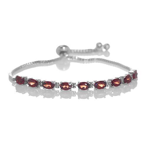 Designer Inspired - Mozambique Garnet (Ovl) Adjustable Bracelet (Size 6.5 to 8.5) 5.000 Ct.
