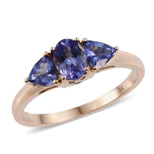 9K Y Gold Tanzanite (Ovl 1.00 Ct) Ring 2.000 Ct.