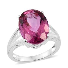Rare Size Mystic Pink Coated Topaz (Ovl) Ring in Sterling Silver 11.750 Ct.