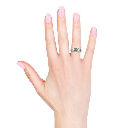 9K Yellow Gold AA Boyaca Colombian Emerald (Oct), Diamond Ring 0.890 Ct.