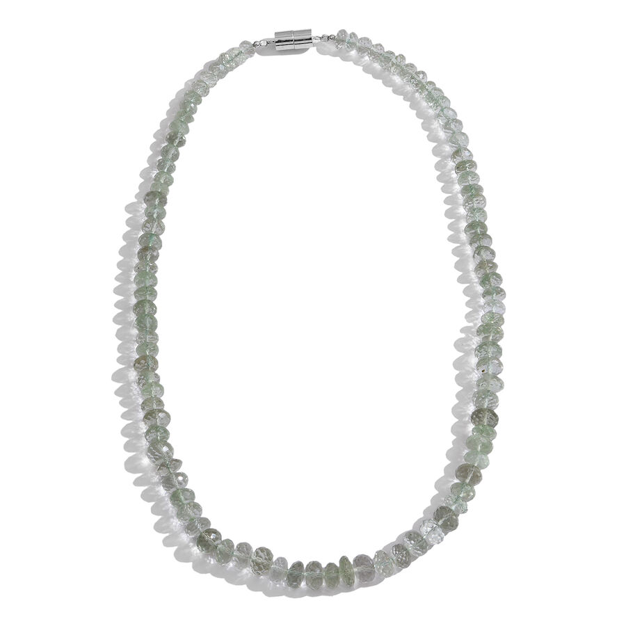 white necklace in cushion diamonds dabakarov with gold pendant green amethyst tw