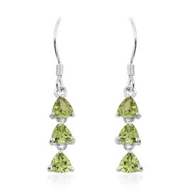 Hebei Peridot (Trl) Hook Earrings in Sterling Silver 2.750 Ct.