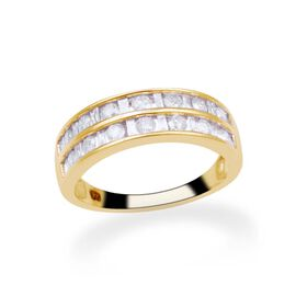 9K Y Gold SGL Certified Diamond (Bgt and Rnd) (I3/G-H) Ring 1.000 Ct.