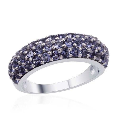 Designer Collection Iolite (Rnd) Ring in Platinum Overlay Sterling Silver 2.750 Ct.
