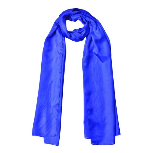 Pantone Collection - 100% Mulberry Silk Lapis Blue Colour Scarf (Size 175X90 Cm)
