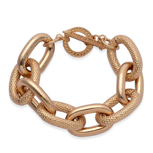 Link Bracelet (Size 9) in Gold Tone