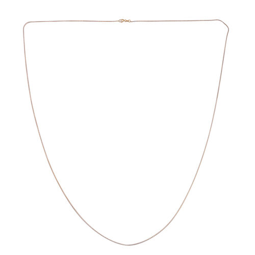 JCK Vegas Collection Yellow Gold Overlay Sterling Silver Chain (Size 36), Silver wt. 4.70 Gms.