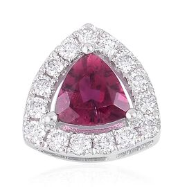 RHAPSODY 950 Platinum 0.97 Carat AAAA Ouro Fino Rubelite Halo Pendant with Diamond VS E-F
