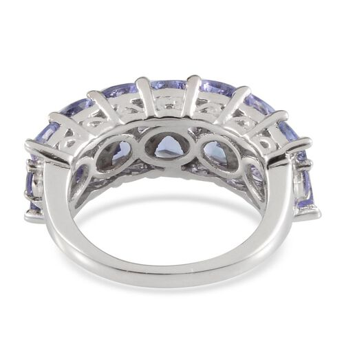 Tanzanite (Trl) Ring in Platinum Overlay Sterling Silver 2.750 Ct.
