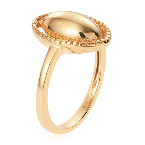 14K Gold Overlay Sterling Silver Ring, Silver wt. 3.65 Gms.
